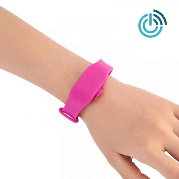 Desinfektionsmittel Armband pink